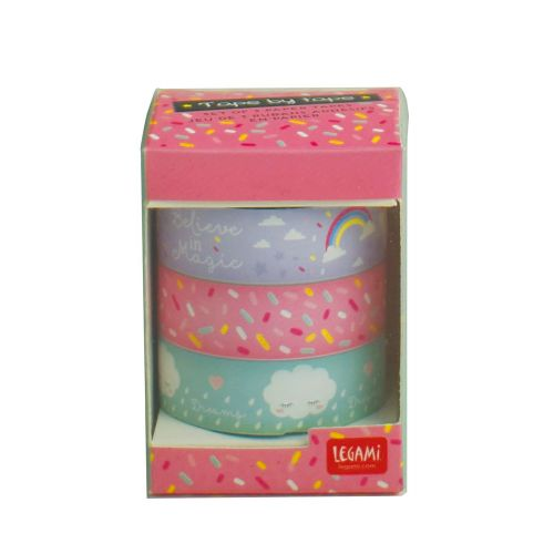 Tape by tape 3 farverige ruller - Enhjørning