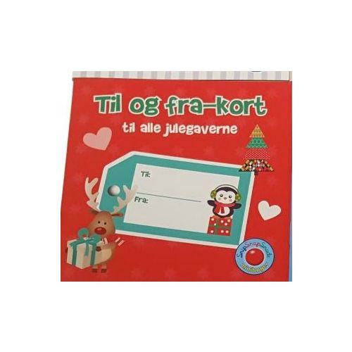 Til og Fra-Kort Julegaver  - Klistermærke bog i Rød