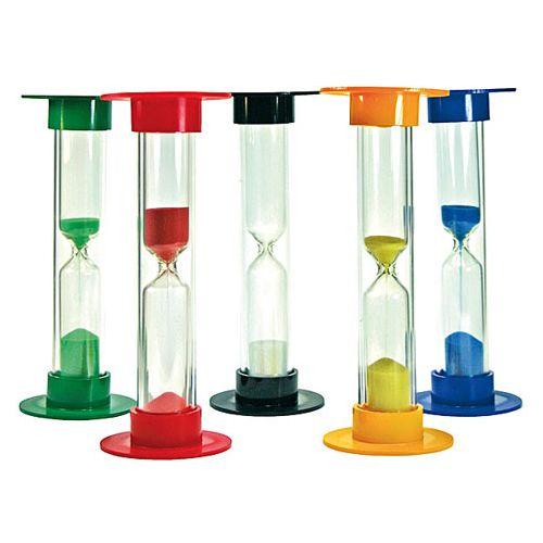 Timeglas - sæt m. 5 stk. - 15 cm høje