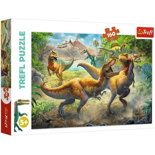 Trefl Fighting Tyrannosaurs Puslespil m. 160 brikker