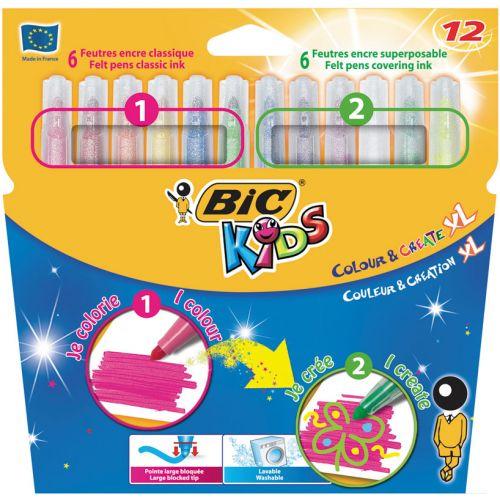 Bic Kids Trylletusser XL  - 12 stk