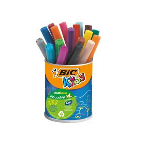 Bic Kids ecolutions Visacolor XL - bøtte med 18 farver