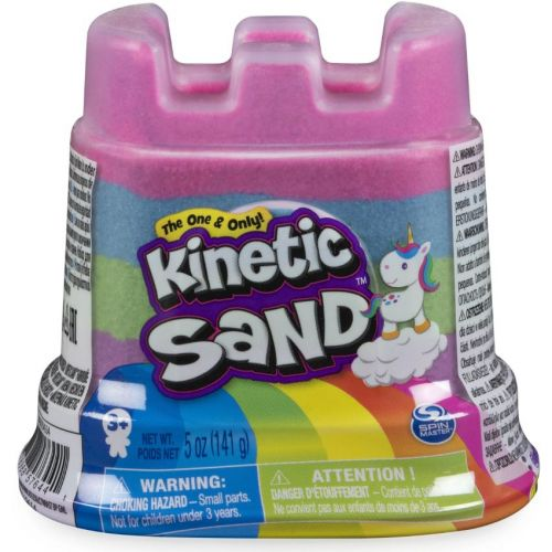Kinetic Sand Box - Enhjørning Slot - Assorterede - 141 g