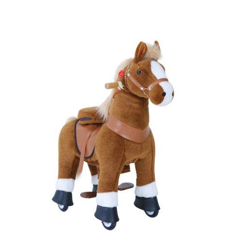 PonyCycle small Mekanisk Pony brun med hvide hove - Ux serien