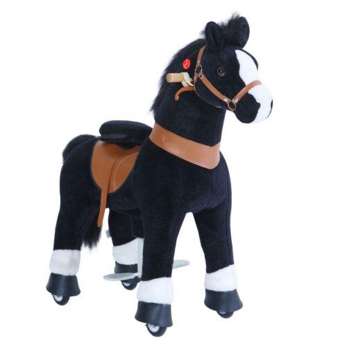 PonyCycle Small Mekanisk Pony Sort hvide Hove 49 cm - Ux-serie