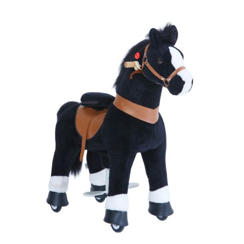 PonyCycle Medium Mekanisk Pony Sort hvide Hove 59 cm - Ux-serie