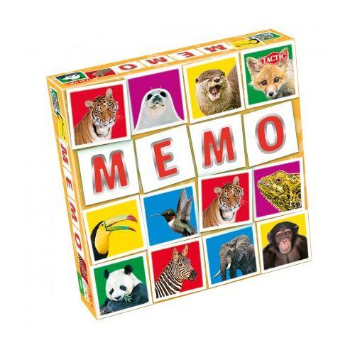 Tactic Memo vendespil - 54 brikker - Vilde dyr