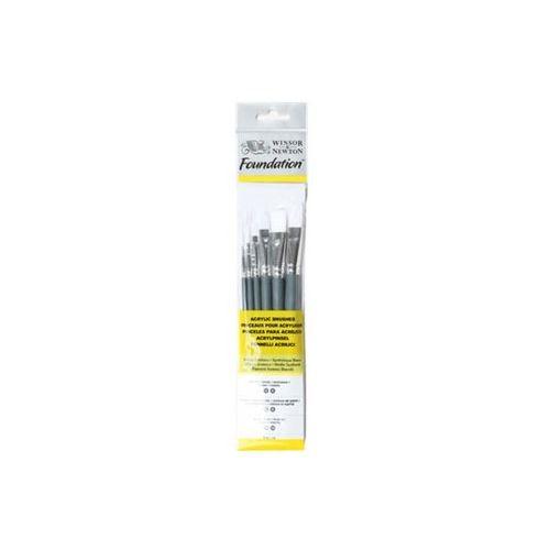 Winsor & Newton Pensel sæt - Akryl/olie penselsæt - 6 stk