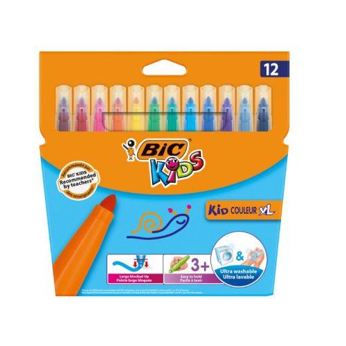 BIC Kids Kid Couleur XL Farvetusser Ekstra Bred Spids - 12 farver