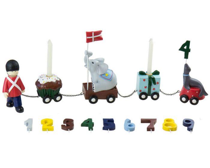Fødselsdagstog  m. 9 tal - Kids By Friis
