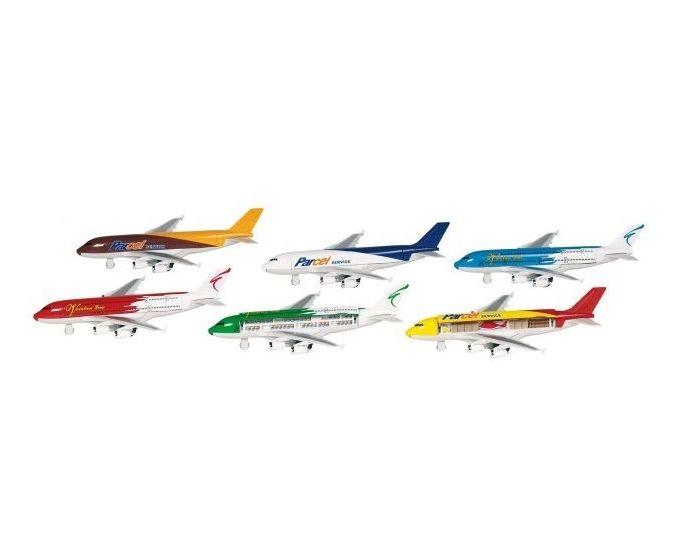 Flyvemaskine 19 cm lang - assorteret