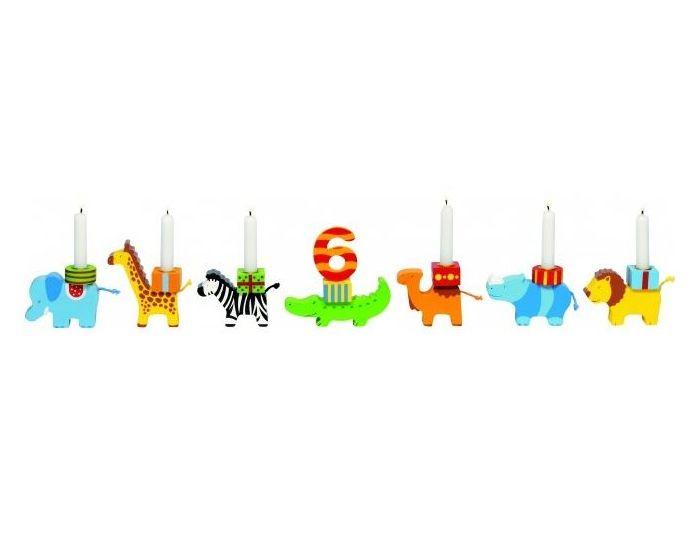 Fødselsdagstog dyreparade med tallene 1-10